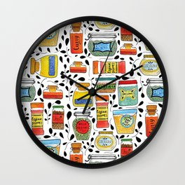 Spice Jars Wall Clock