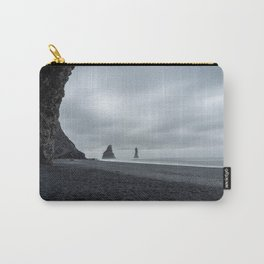 Moody dark weather at Reynisdrangar black beach near Vík   Iceland travel photography Carry-All Pouch