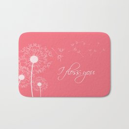 I floss you (pink) Bath Mat