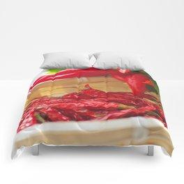 Hot chili pepper for kitchen design Comforters