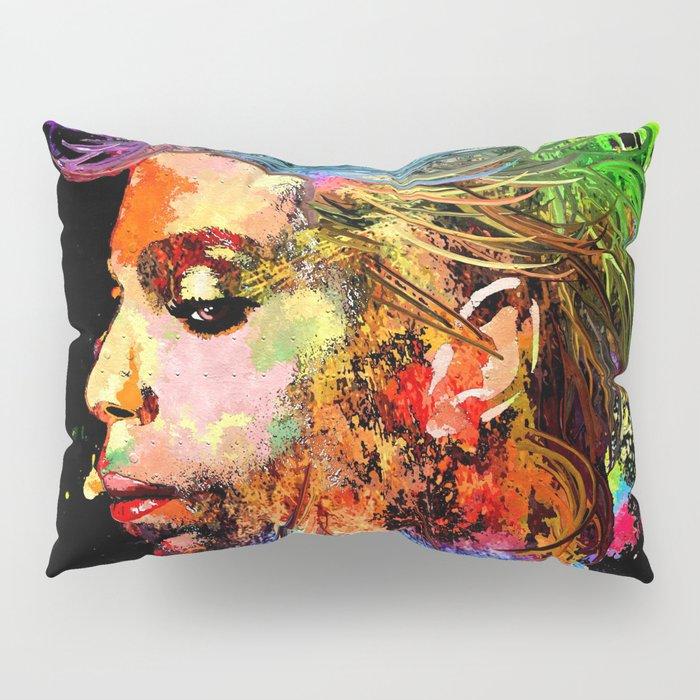 Prince Profile Grunge Pillow Sham