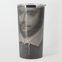 Vintage Portrait of William Shakespeare (1800s) Travel Mug