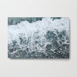 Waves lap at the shore Metal Print