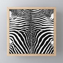 Zebra Stripes Print Framed Mini Art Print