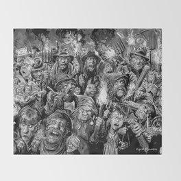 Frankenstein Villagers Throw Blanket