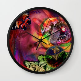 Blue Earth Uprooted Wall Clock