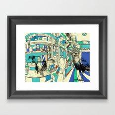 Coffee Bird Framed Art Print