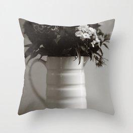 Jug of Flowers Throw Pillow