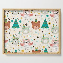 Boho Forest , Woodland Critters Serving Tray