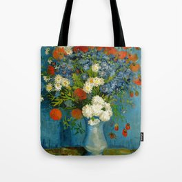 Vincent Van Gogh Vase With Cornflowers And Poppies Tote Bag