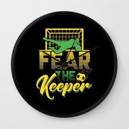 Fear the Keeper | Soccer Goalkeeper Wall Clock