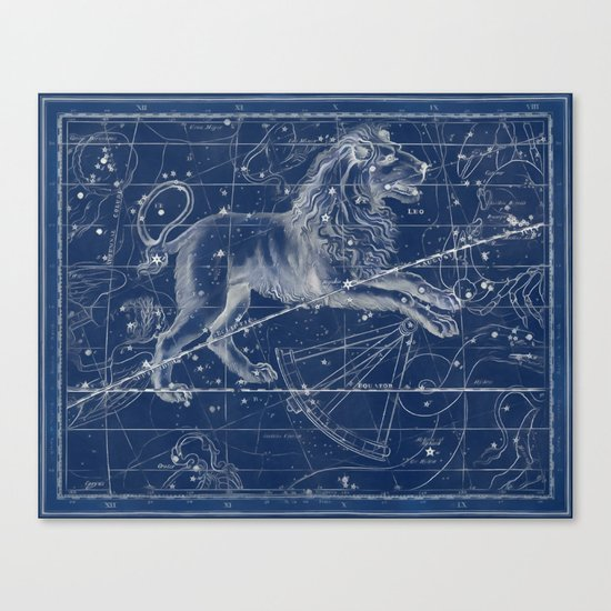 Leo sky star map Canvas Print