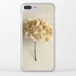 Blonde Dried Hydrangea Clear iPhone Case