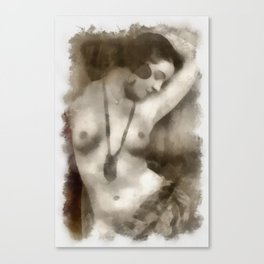 Vintage Pinup by Frank Falcon Canvas Print