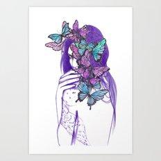 Amongst Butterflies Art Print