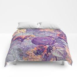 Blue rose Comforters