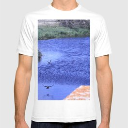 Ducks flying down the river T-shirt