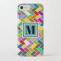 monogram iPhone & iPod Cases featuring M Monogram by mailboxdisco