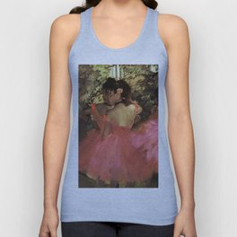 Dancers In Pink 1885 By Edgar Degas | Reproduction | Famous French Painter Unisex Tank Top