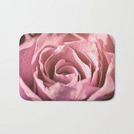 Pink Rose Macro Bath Mat