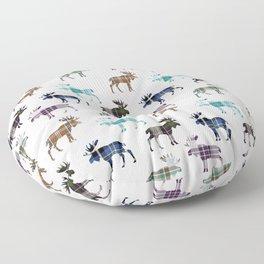 Plaid Moose Floor Pillow
