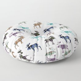 Plaid Moose III Floor Pillow