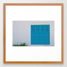 Cyan Framed Art Print