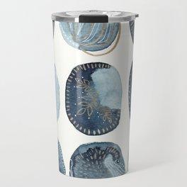 Indigo watercolorInk 04 Travel Mug