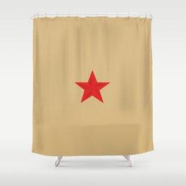 Red Star Communist Shower Curtain