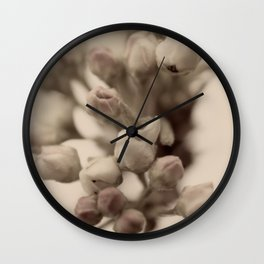 Vintage Pear Tree Flowers Wall Clock
