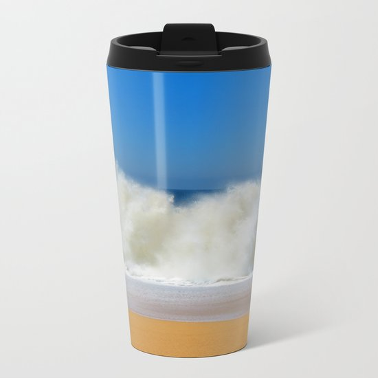 Summer Beach Metal Travel Mug