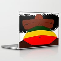 rasta Laptop & iPad Skins featuring Rasta Beauty by Courtney Ladybug Johnson
