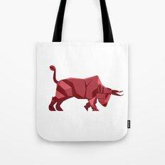 Origami Bull Tote Bag