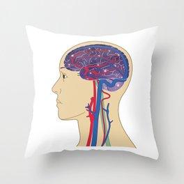 Universe in Brain_B Throw Pillow