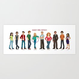 Aggie's Nine Heroes Art Print