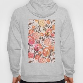 Vintage Floral Watercolor Pattern Hoody
