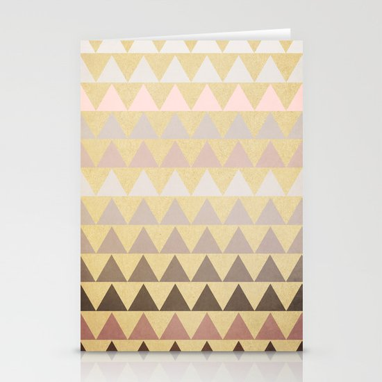 Muted Triangles Stationery Cards