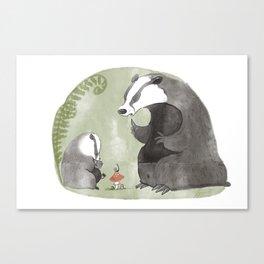 Papa Badger Canvas Print
