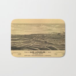 Aerial View of Los Angeles, California (1877) Bath Mat