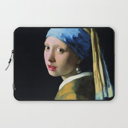Jan Vermeer Girl With A Pearl Earring Baroque Art Laptop Sleeve