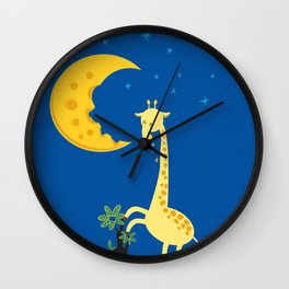 The Delicious Moon Cheese Wall Clock