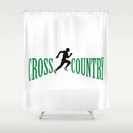 Cross country Shower Curtain