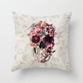 New Skull 2 Throw Pillow