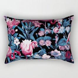 Floral and Flamingo VIII Rectangular Pillow