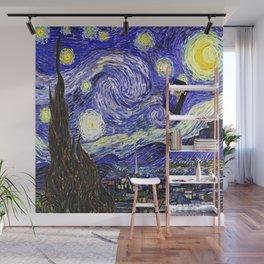 TARDIS STARRY NIGHT Wall Mural