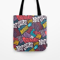 Pattern of Uncertainty Tote Bag