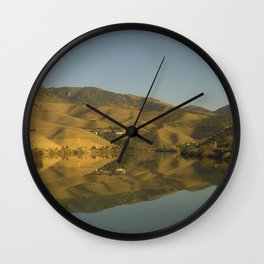 Douro valley Reflections Wall Clock