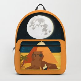 Moon in Egypt Backpack