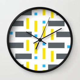 Pattern of Squares - Color Wall Clock