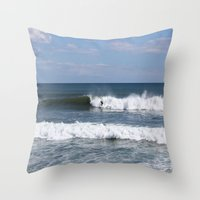surfer Throw Pillows featuring Surfer by moonstarsunnj
